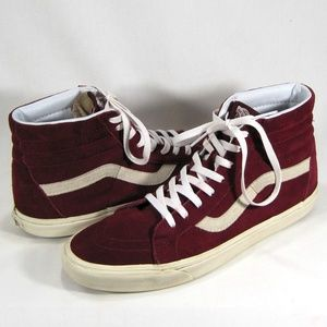Vans Red Suede High Top Skateboard Shoes Sz: 13M